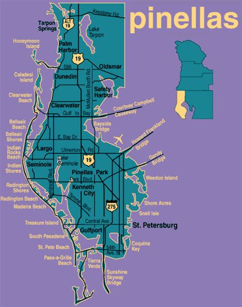 Pinellas County Florida Search Map Of Pinellas County Florida My