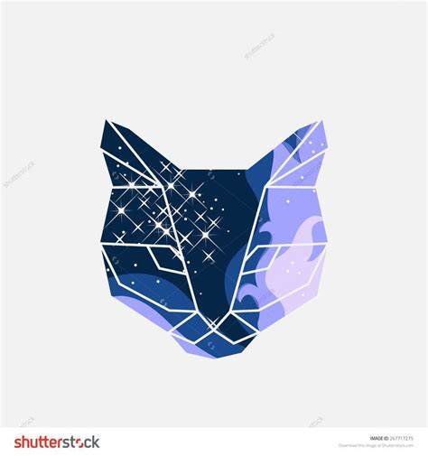 Vector Cat In Space 17 best ideas about geometric cat on