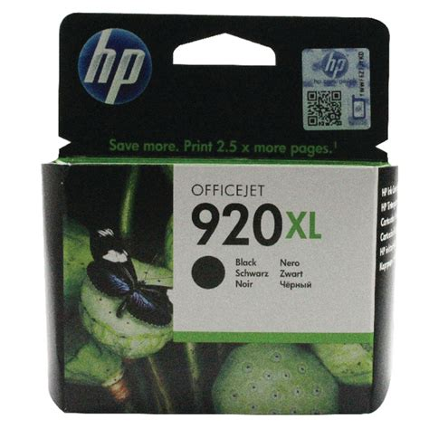 hp 920xl black ink cartridge high capacity cd975ae