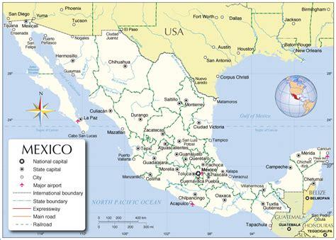 printable mexico map map of mexico mexico map mexico political map