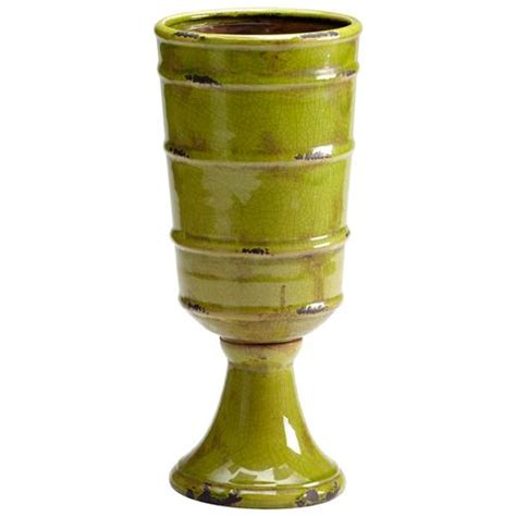 Outdoor Pottery Vases by Stockton Rustic Moss Green Outdoor Ceramic Vase