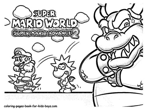 super mario world coloring pages coloring home