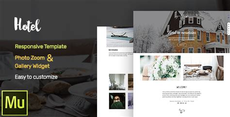 muse cc templates hotel adobe muse cc responsive template gallery widget