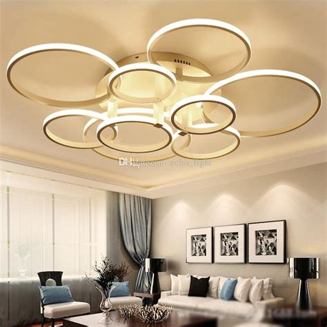 Modern Acrylic Ring Led Circle Chandelier Lamp Pendant Light Ceiling Lamp Circles Led Chandelier