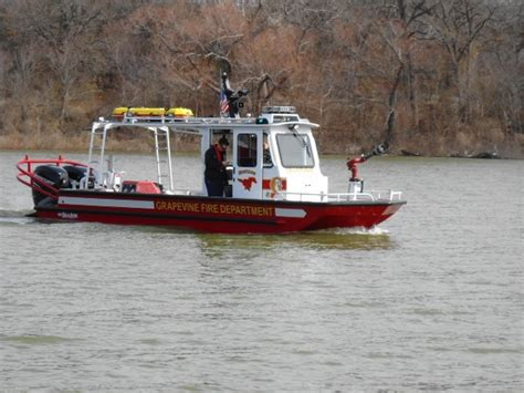 a look at the new grapevine fire boat lake grapevine - Grapevine Fire Boat