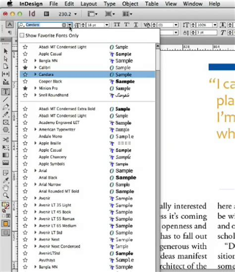 pattern font indesign indesign secrets video finding the right font