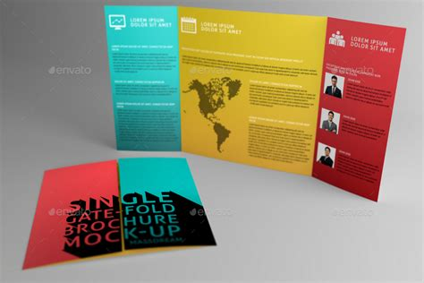 single fold brochure template single gate fold brochure mock up by massdream graphicriver
