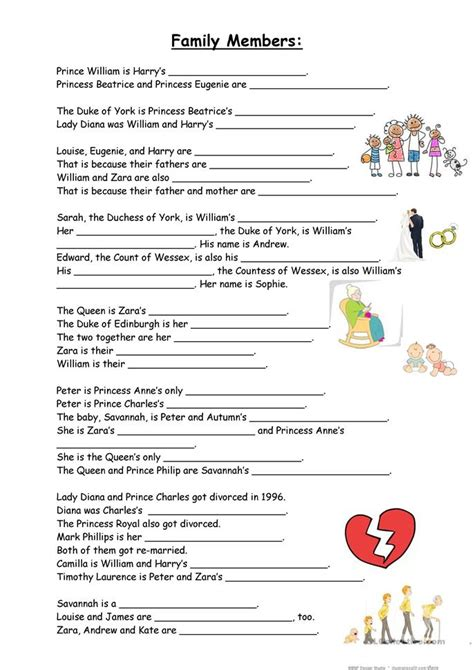 printable quiz about the royal family 34 free esl royal family worksheets