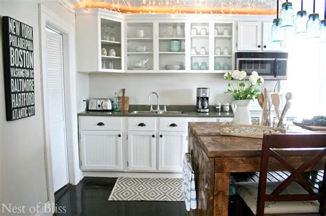 Blue Kitchen Ideas by Farmhouse Kitchen Tour Updated Nest Of Bliss