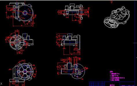 Worm gear box drawing AutoCAD Blocks Crazy 3ds Max Free