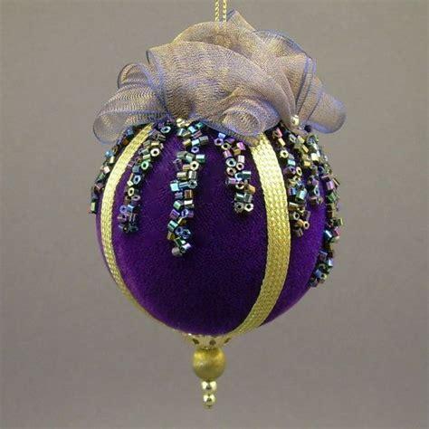 Handmade Balls Ornaments - towers turrets quot icicles quot cobalt blue velvet