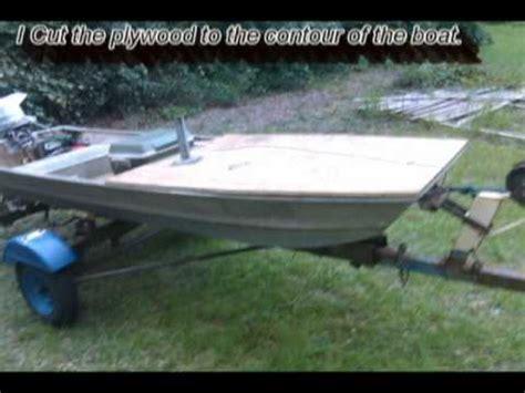 12 foot jon boat custom custom 12 jon boat modification dixie county style youtube