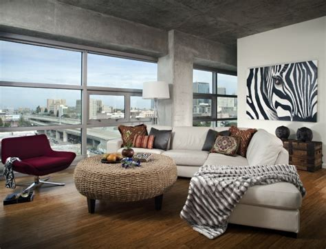 dramatic zebra living room decoration ideas
