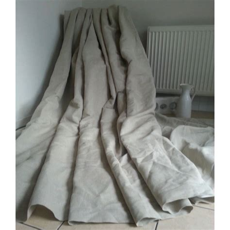 irish linen curtains made to measure 55 quot w 93 quot d natural 100 irish linen cotton