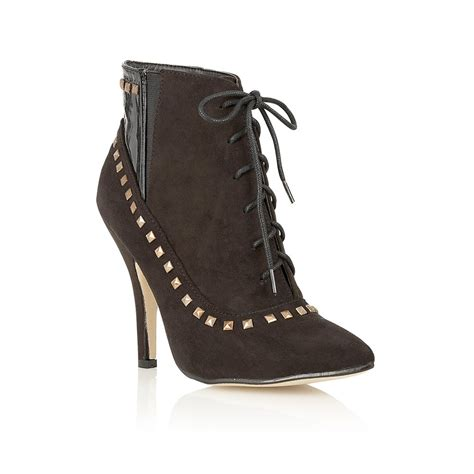 buy dolcis pixie studded lace up ankle boots