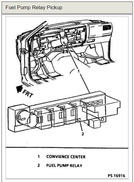 fuel pump relay question     fuel pump