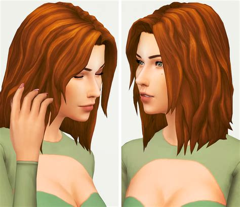 hair style match photo my sims 4 blog anna hair by kotcat