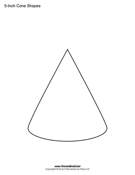 shape template cone templates free printable cone shape pdfs