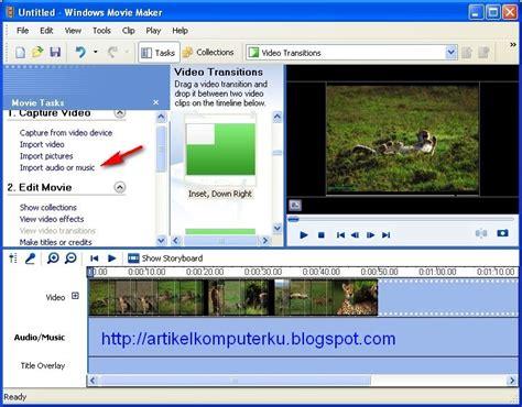 artikel format file audio memasukkan file audio lagu menambah lagu ke video clip