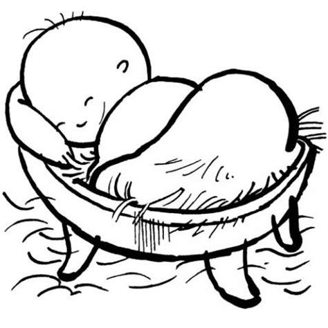dibujos infantiles jesus dibujo para colorear de jes 250 s en el pesebre dibujos de