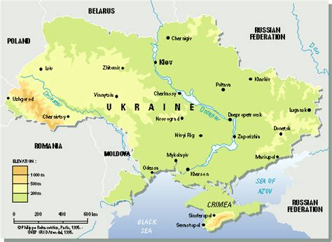 physical map of ukraine map of ukraine