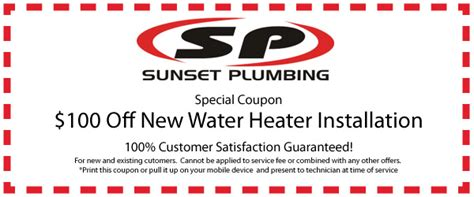 Plumbing Bend Or by Plumbing Coupons Bend Oregon Sunset Plumbing