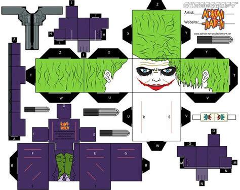 Create Your Own Papercraft - joker cubeecraft make your own cubeecraft