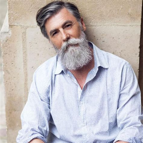 beards for men over 60 a click of 60 year old fashion model philippe dumas pics