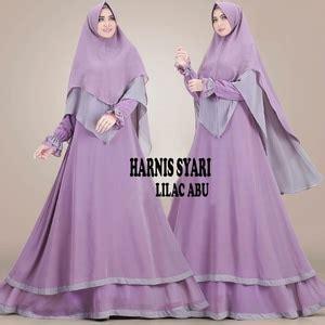 setelan hijab modis baju gamis syari modern model terbaru