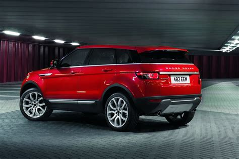 land rover red range rover evoque five door pictures and details