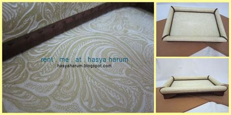 Kotak Cincin Wooden Ringbear Tray hasya harum creme wood tray dulang hantaran wedding