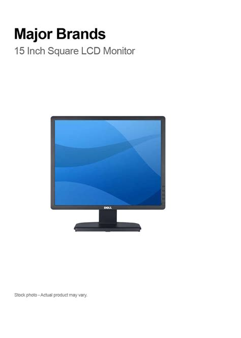 Monitor Lcd 15 Inch Second major brands 15 inch square lcd monitor compupoint