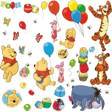 winnie the pooh stickers for walls winnie the pooh friends wall decals wall2wall