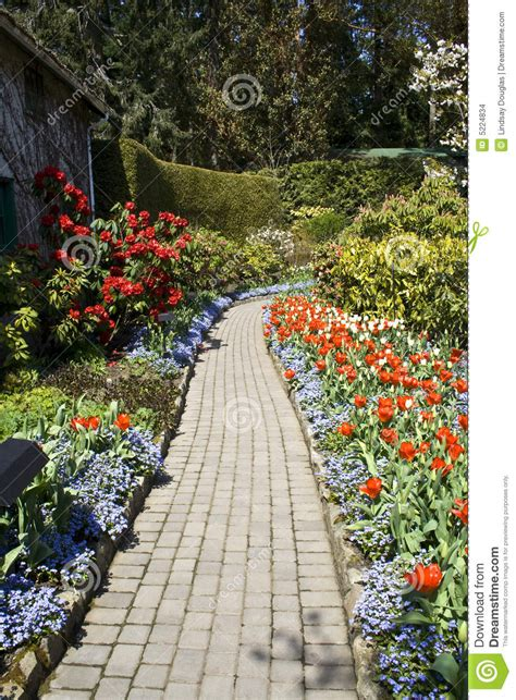 footpath flowers footpath and flowers stock images image 5224834