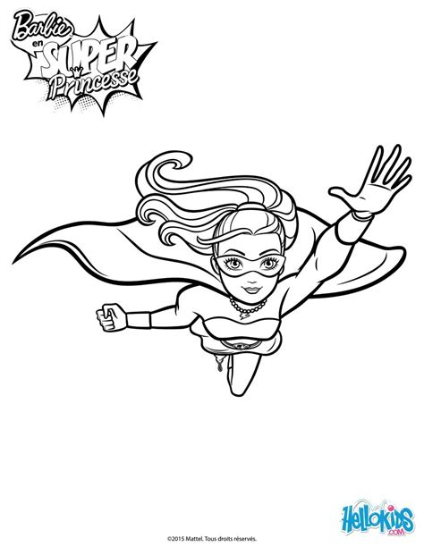 super barbie coloring page barbie super power in action coloring pages hellokids com