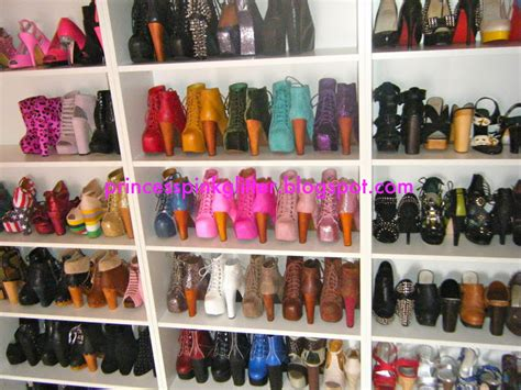 shoe wall shelves pink glitter shoe wall