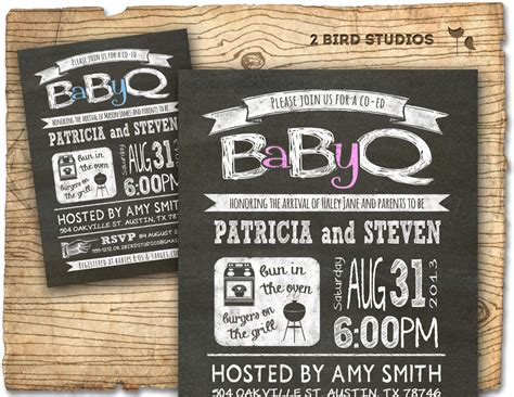 Free Baby Q Invitations Templates by Baby Q Baby Shower Invitation Coed Baby Shower Invite