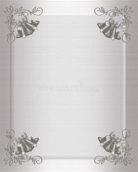 silver wedding invitation background wedding invitation silver bells stock illustration illustration of background bell 15254071
