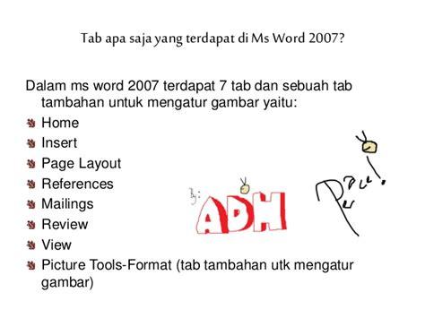 web layout adalah group yang terdapat dalam tab pengenalan microsoft word 2007