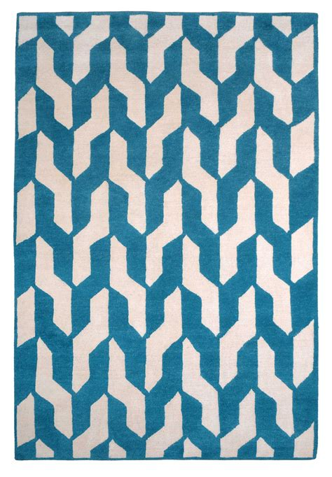 The Rug Company by Cable Blue By The Rug Company Wool Contemporary