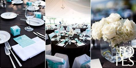 Table Setting Black Tablecloth, White Chair Covers