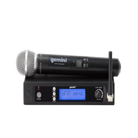 gemini uhf 6100m single channel wireless uhf pll system handheld at ocsdeals