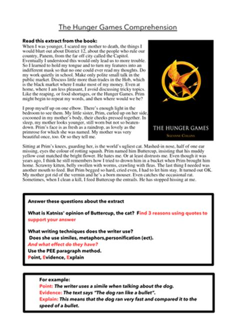 the hunger games themes worksheet answers 6 x reading comprehensions based on the hunger games by