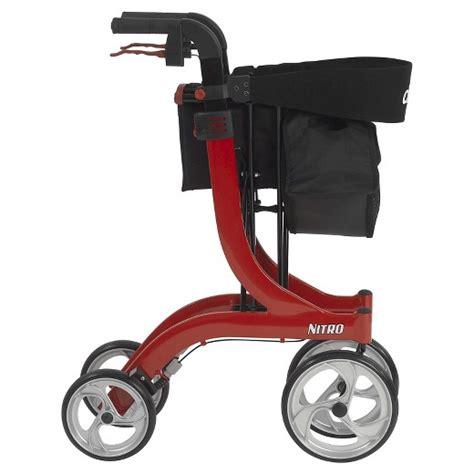 drive nitro rollator drive medical nitro euro style walker rollator red target