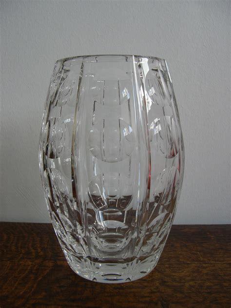 Stuart Vase by Cut Glass Vase By Luxton For Stuart C 1950