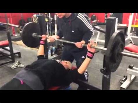 dave taylor bench press bronwyn taylor 19 70kg raw bench press youtube
