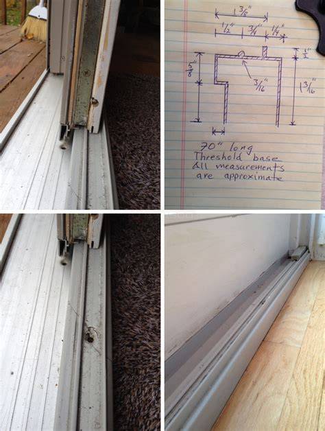 Sliding Glass Door Threshold Sliding Glass Door Threshold Base Swisco