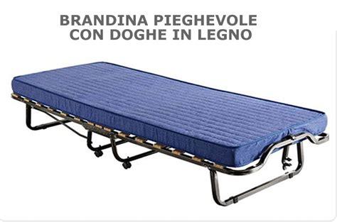 brandina letto brandina pieghevole con materasso e rete a doghe