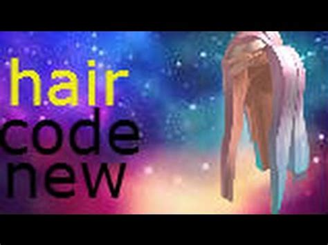 roblox code for long hair code for long pastel hair roblox youtube