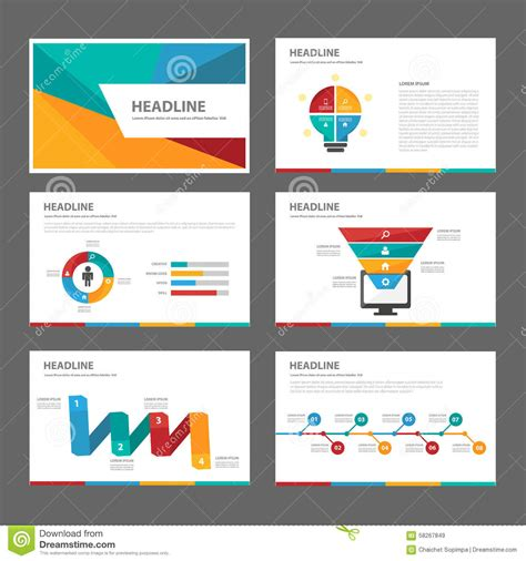 Colorful Multipurpose Brochure Flyer Leaflet Website Template Flat Design Stock Vector Image Colorful Website Templates